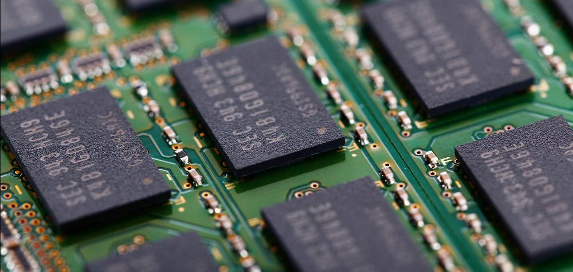 het RAM geheugen van een laptop
