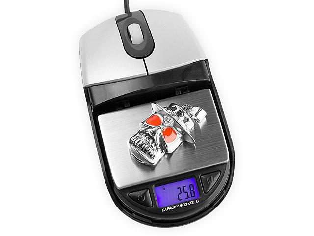 techbird muis met weegschaal gadget