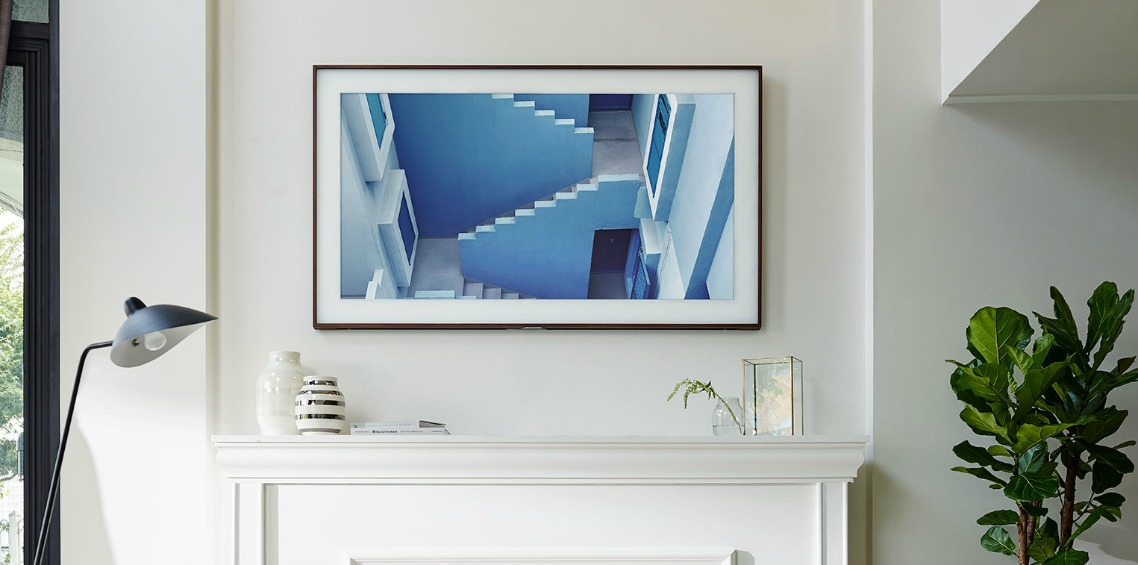 Samsung tv die op een schilderij lijkt