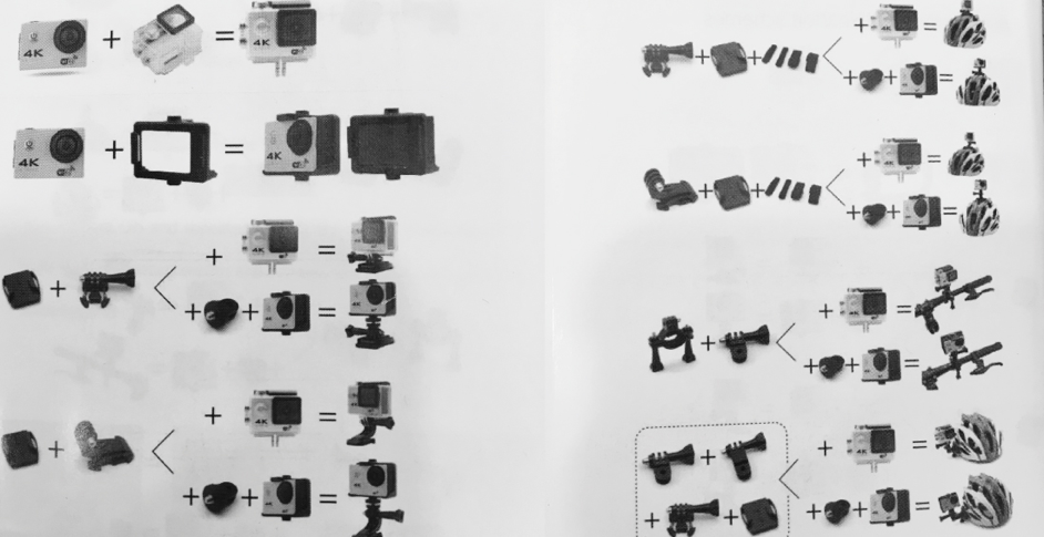 Actioncam accessoires v60s techbird
