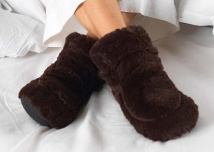Verwarmde pantoffels
