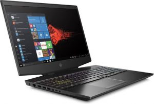 Een gaming laptop op een witte achtergrond